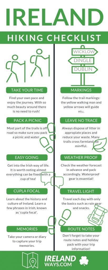 hiking in Ireland checklist irelandways