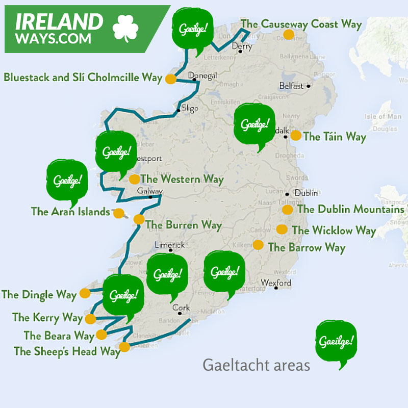 Map Of Ireland In Irish Language.The Irish Language A Beginner S Guide Irelandways Com
