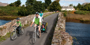 Cycling-the-Green-Way-from-Westport