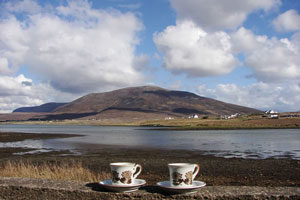 View-from-Achill,-Mountains,-Sea,-Tea