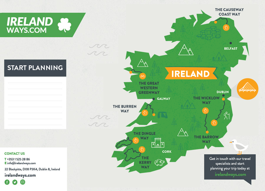 Map Of Ireland Download.Downloadable Ireland Map Hiking Cycling In Ireland Irelandways Com