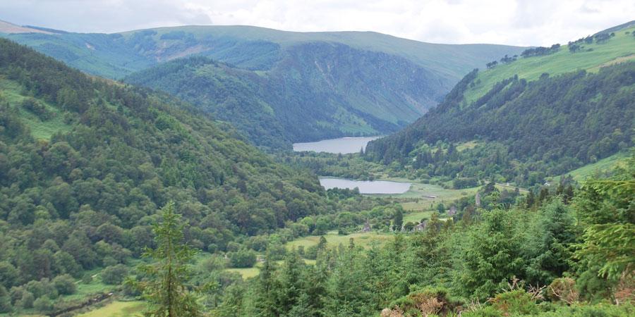 view-glendalough-lakes-wicklow-way-hiking-ireland-ways